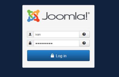 Joomla - prvo logovanje prijava na Admin slika 2