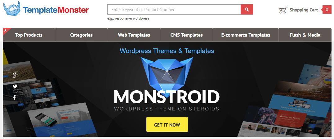 Gde kupiti premium temu za WordPress - Template Monster