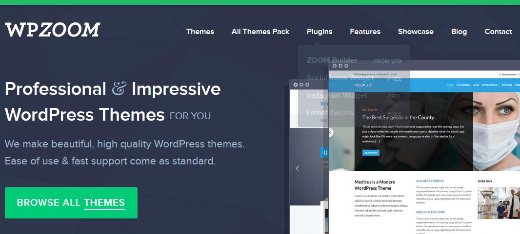 Gde kupiti premium temu za WordPress - WPZoom