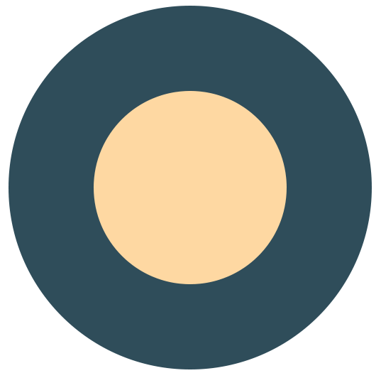 Flat ikonica mesec i zvezde slika 1