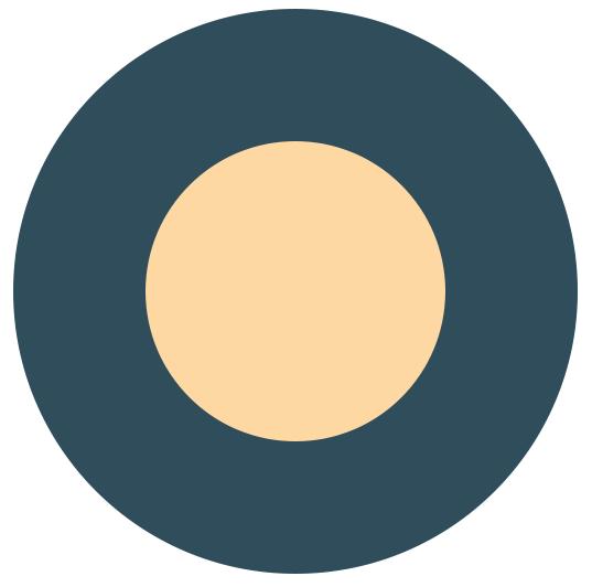Флат иконица месец и звезде слика 1