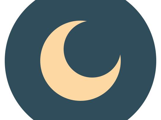 Flat ikonica mesec i zvezde slika 3