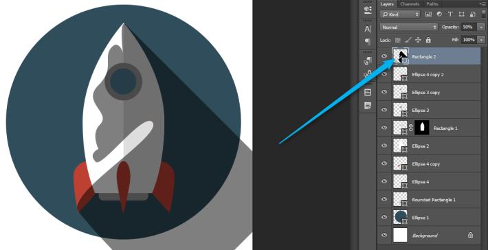 Izrada Flat ikonica u Photoshopu slika 34