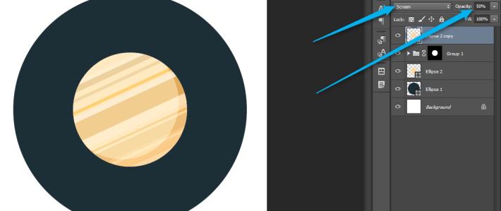 Photoshop - Flat ikonica rakete slika 11