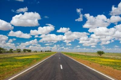 Highway between Cloncurry and Winton, outback Queensland