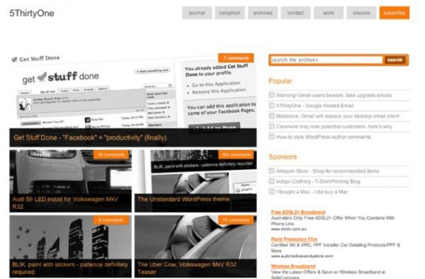 The Unstandard WordPress theme