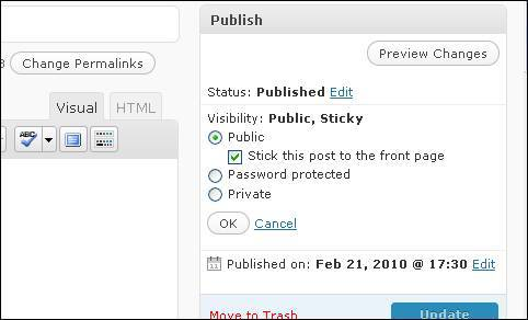 show a sticky post on your homepage