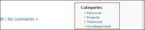 wp_list_categories