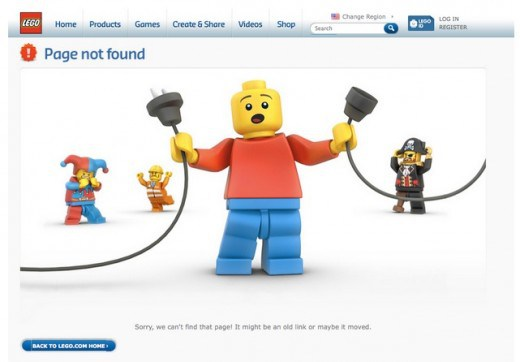 Creative and Interesting 404 Pages - Lego