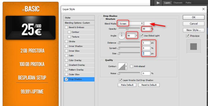 Kako napraviti cenovnik u Photoshop slika 45