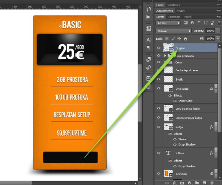 Kako napraviti cenovnik u Photoshop slika 48