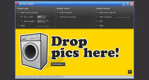 tool for image optimizing for wordpress