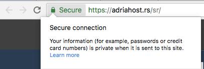 adriahost besplatan ssl sertifikat