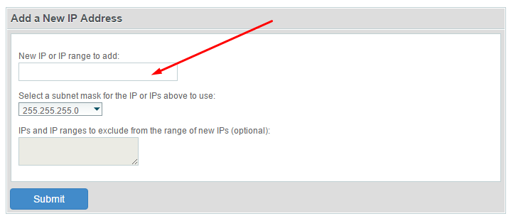 Dodavanje nove IP adrese cPanel WHM slika 2