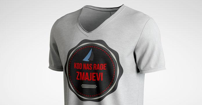 Mockup dizajna na majici