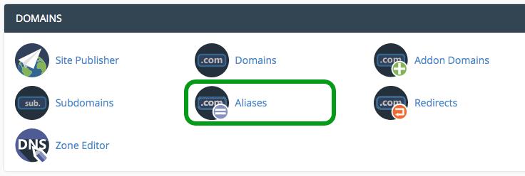 alias domain