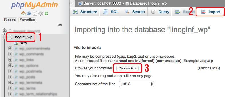 import baze podataka