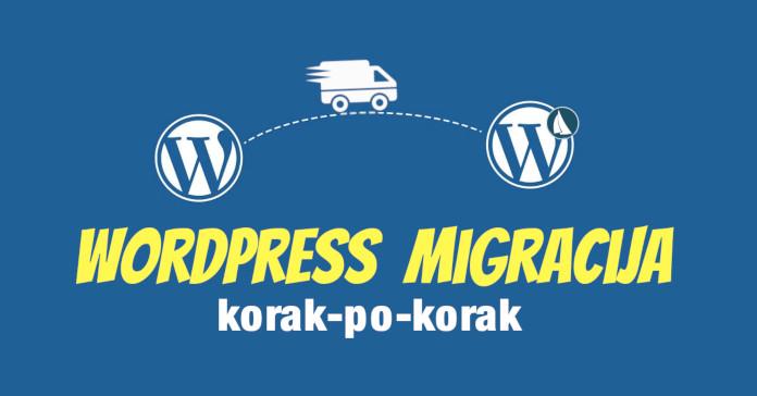 wordpress migracija korak po korak