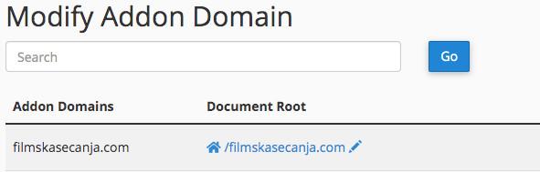 додатни домен на хостингу