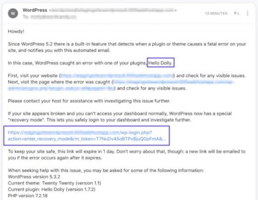 mejl od wordpressa