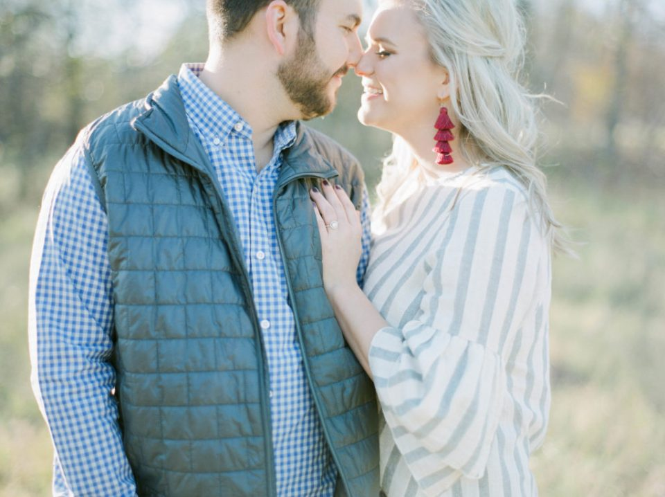 Film engagement photos by Adria Lea Photography Dallas wedding photographer