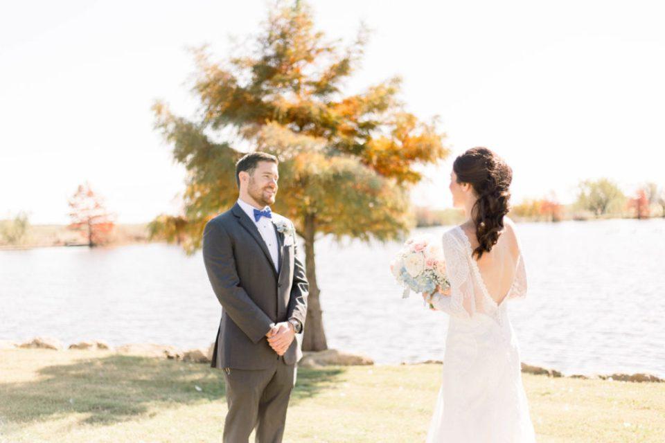 Wedding Photos on Film by Adria Lea Photography Dallas Wedding Photographer | first look photo