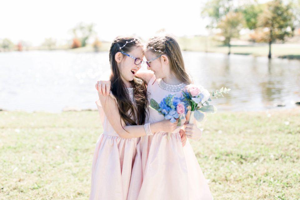 Wedding Photos on Film by Adria Lea Photography Dallas Wedding Photographer | flower girls spring