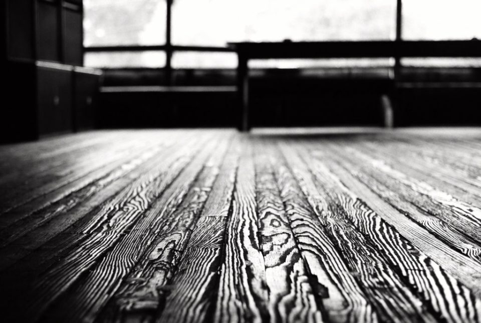 Dallas Photographer Adria Lea Photography black and white film photography, wood floor