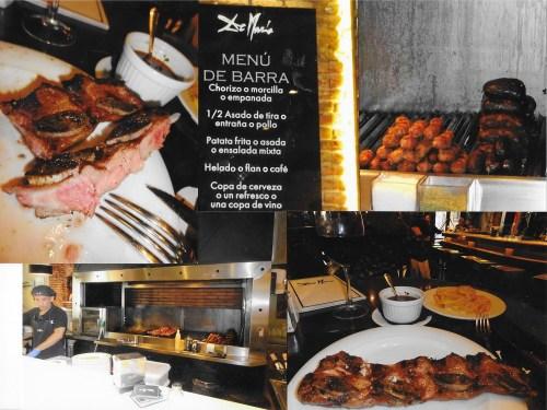 Asado de tira și parilla într-un restaurant argentinian din Madrid