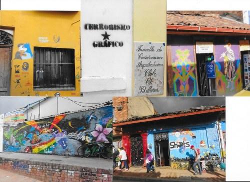 """La Bogota, un tag atrage atenția trecàtorilor asupra """"terorismului grafic""""!"""