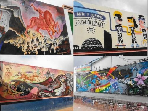 """Faimoasele """"murales"""", ca în multe alte locuri din America Latină!"""