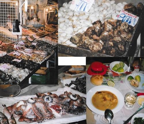 Les fruits de mer à l'étalage du marché…