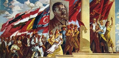 Trec rânduri, rânduri muncitorii… (tablou de Jules Perahim din perioada lui proletcultistă)