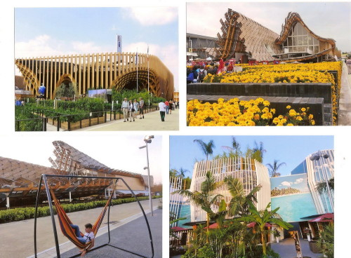 ...și pavilioane ecologice! (Franța, China, Columbia)
