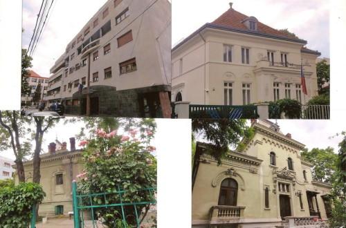 Edificii din diferite epoci, în jurul bisericii Oțetari