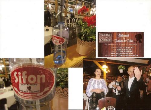 Le siphon dans un restaurant traditionnel de Bucarest
