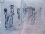 gesture drawing, sketchbook