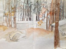 Adriana Burgos, Sketchbook entry , Stone Mountain Campground, Nov 2008