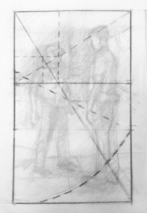 """Adriana Burgos, thumbnail for """"Physiotherapy # 1"""" with a harmonious division and of the golden rectangle"""