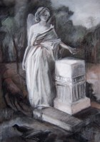 """""""Angel"""", Adriana Burgos, Charcoal and pastel on paper, 22 x 35 inches 2009,"""