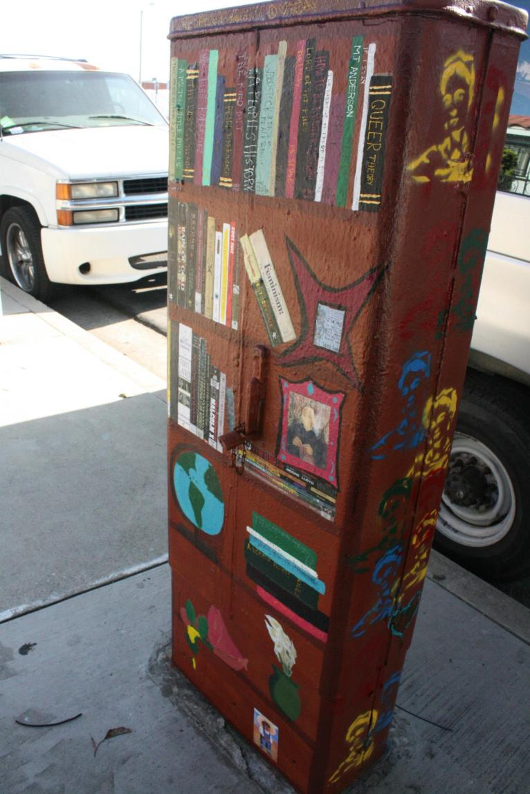 [Image Description: a painted electric box from the E.L.L.A.S. street art takeover ]