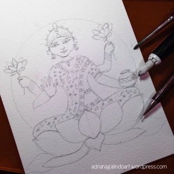 Lakshmi, esboço/sketch