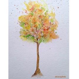 Outono, tree 14, 21×15 cm. Available