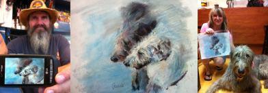"""Finn and Aidan the Irish Wolfhounds"""