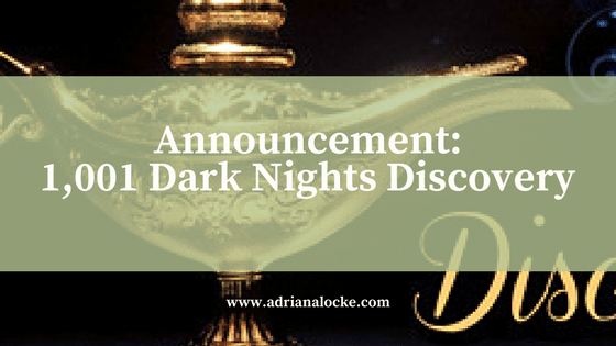Announcement: 1,001 Dark Nights Discovery Author