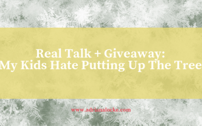 Real Talk: My Kids Hate Putting Up The Tree + Giveaway
