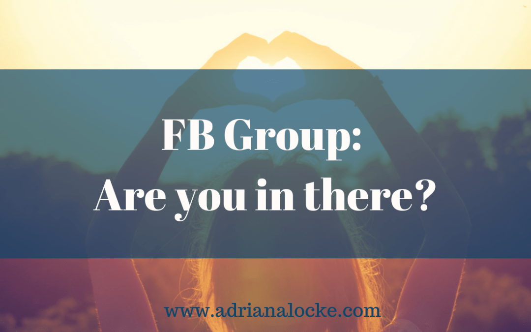FB Group: Are you in there?