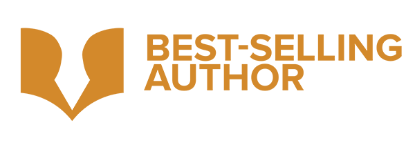 Best-Selling Author Logo - WEB WHITE