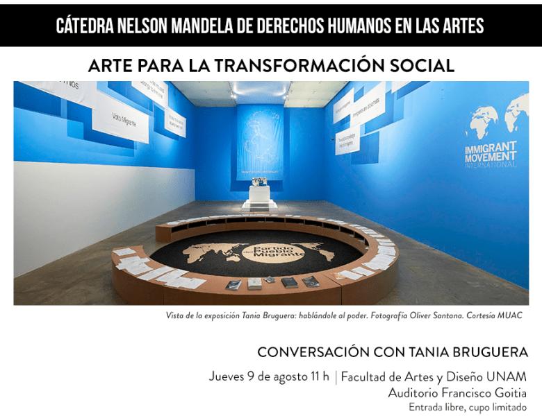 Conversación con Tania Bruguera: Arte para la transformación social.