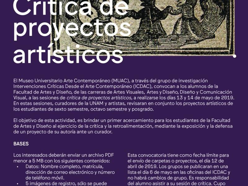 Crítica de proyectos artísticos 2019